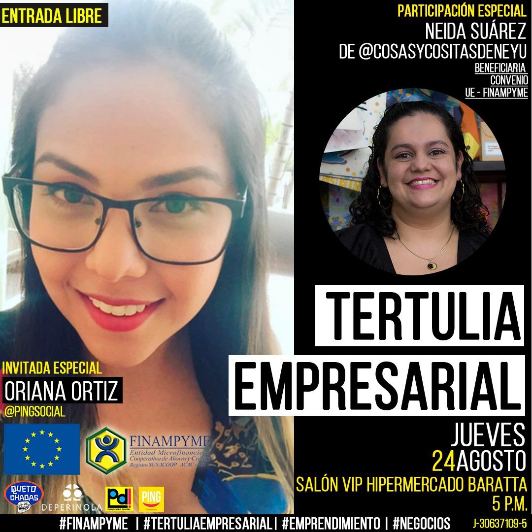 Tertulia Empresarial con Oriana Ortiz